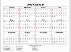 Blank printable calendar 2019 pdf – Printable Shelter
