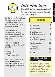 Bt Big Button Phone User Manual From Telephones Online