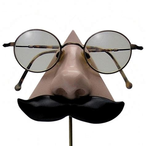 Eyeglass Holder Stand by Nose Eyeglass Holder Black Mustache 28 00 Via Etsy