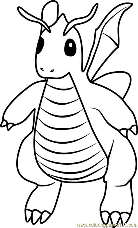 dragonite pokemon  coloring page  pokemon