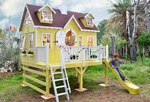Grande Cabane Enfant : grande cabane en bois pour enfant greenhouse ~ Melissatoandfro.com Idées de Décoration