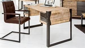 Bureau Bois Metal : bureau droit design industriel bois massif et m tal jorg gdegdesign ~ Teatrodelosmanantiales.com Idées de Décoration