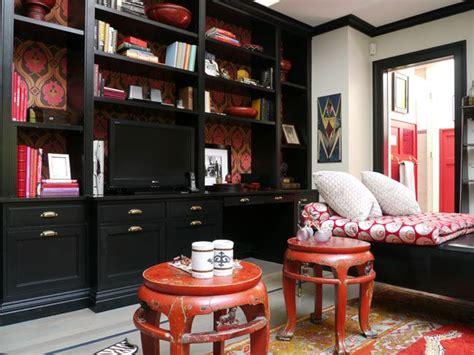 ideas  black bookcase  pinterest wooden