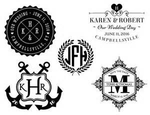 Free Wedding Monogram Templates
