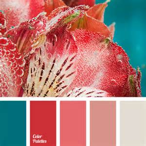 Red and Turquoise Color Palette