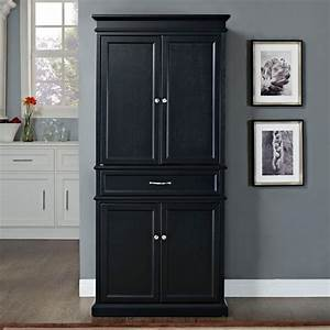 Black kitchen pantry cabinet home furniture design for Black kitchen pantry storage