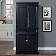 Black Kitchen Pantry Cabinet  Home Furniture Design