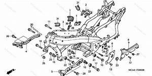 Honda Motorcycle 2003 Oem Parts Diagram For Frame