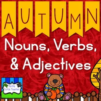 Autumn Nouns, Adjectives, & Verbs  Worksheets And Center