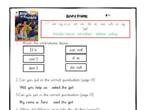 oxford reading tree level 6 comprehension worksheets by linman teaching resources