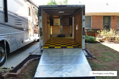 Some of the best materials that will work as snowmobile shed ideas and floor installations include rubber and pvc plastic. Enclosed Snowmobile Trailer Flooring Ideas | Floor Matttroy