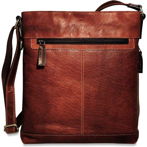 jack georges voyager leather cross body bag