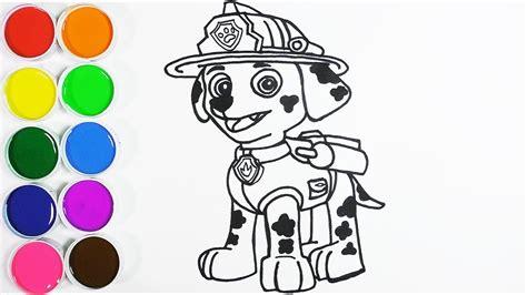 Dibuja y Colorea Marshall de los Paw Patrol Dibujos Para