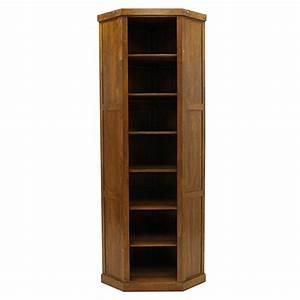 Meuble Angle Bois : meuble bibliotheque d angle en bois id es de d coration ~ Edinachiropracticcenter.com Idées de Décoration
