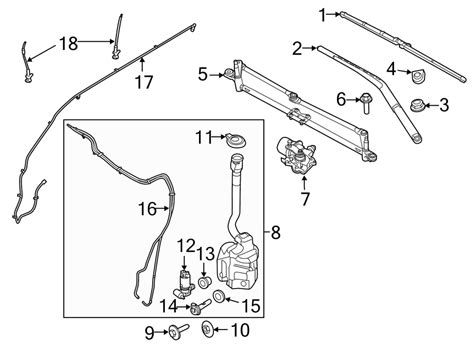 Ford Wiper Linkage Diagram by 2014 Ford Explorer Windshield Wiper Linkage Front