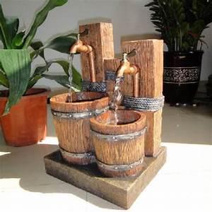 Grande Fontaine D Intérieur : fontaine d 39 int rieur avec double robinets et baquets sur ~ Premium-room.com Idées de Décoration