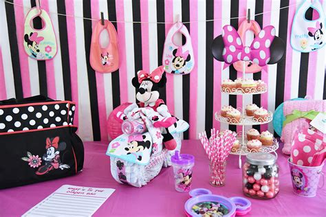 minnie mouse baby shower decorations ideas minnie mouse baby shower by disney baby halstead