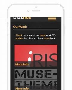 bizznus adobe muse mobile template by musethemescom With adobe muse mobile templates