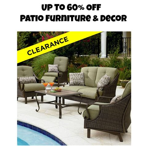 sears up to 60 patio furniture decor