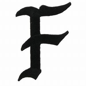 2quot black old english iron on letter f hobby lobby 501676 With old english iron on letters white