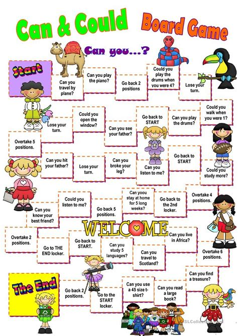 Can & Could Board Game Worksheet  Free Esl Printable Worksheets Made By Teachers