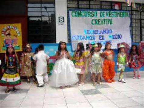vestimenta creativa con material reciclable pasarella inicial de 5 a 241 os