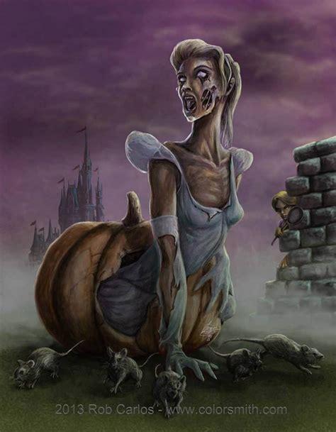 disney zombie princess princesses cinderella characters zombies carlos horror rob creepy monsters scary dark pumpkin artwork apocalypse into twisted terrifying