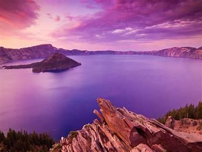 Lake Crater National Park Oregon Sunset Wallpapers