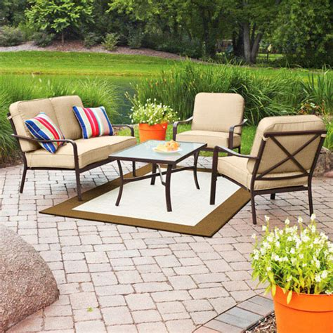 mainstays patio furniture replacement cushions crossman conversation set replacement cushions garden winds