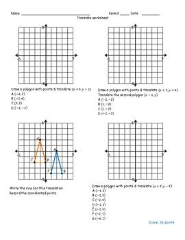translation worksheet by math monkey teachers pay teachers