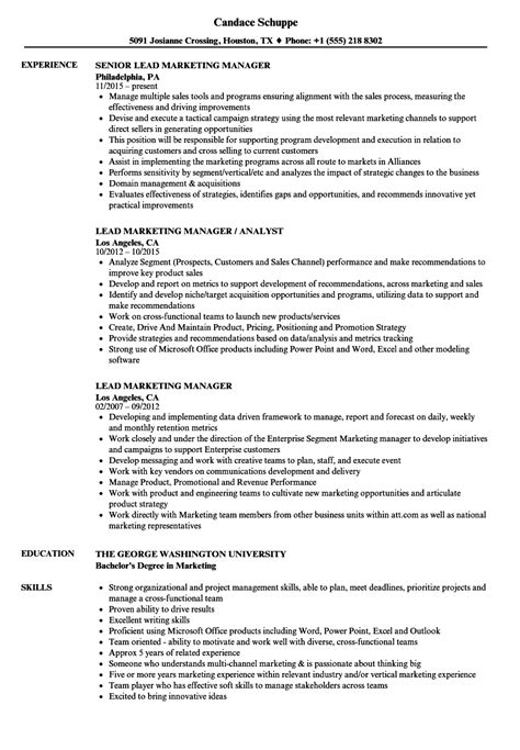 sle marketing manager resume hvac estimator cover