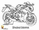 Coloring Honda Motorcycle Repsol Motogp Sheet Yescoloring Swashbuckler Printables sketch template