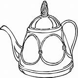 Teapot Coloring Pages Tea Clipart Cup Da Printable Little Disegni Cucina Clip Coffee Colorare Immagini Per Story Utensili Party Dibujo sketch template