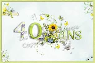 anniversaire 40 ans de mariage carte d 39 invitation d 39 anniversaire sur le thème des fleurs