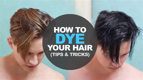 How To Dye Mens Hair At Home Diy Mens Hairstyle