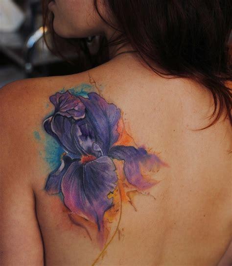 30 Blumen Tattoo Motive Im Trendigen Wasserfarbenlook