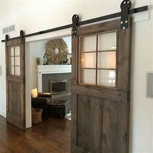 25 sliding barn doors ideas for a rustic feel digsdigs With clear glass barn door