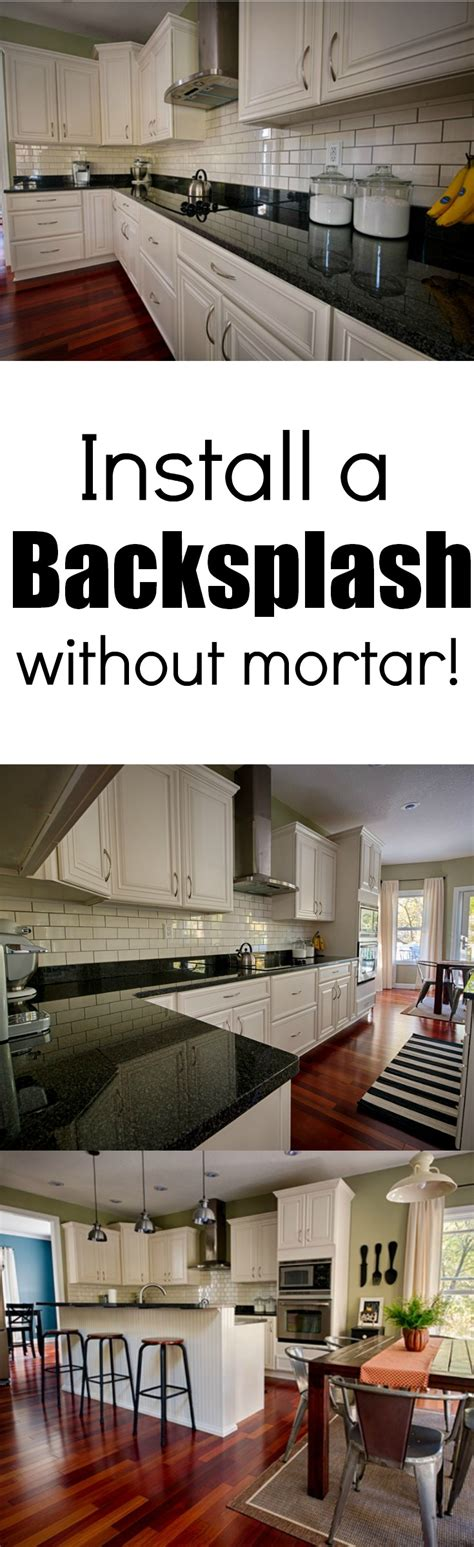 how to install backsplash kitchen install a backsplash without mortar learn how a