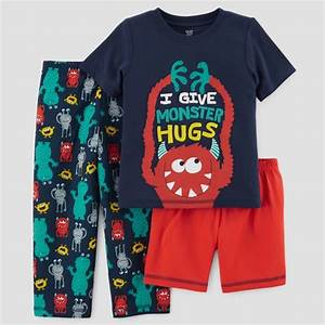 Carters Baby Size Chart Baby Boys 39 3pc Monster Hugs Pajama Set Just One You