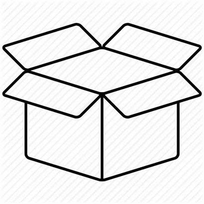 Box Clipart Illustration Drawing Open Package Cube