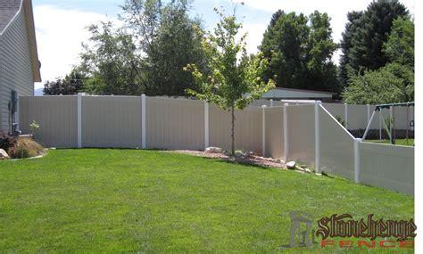 vinyl fencing utah stonehenge fence deck vinyl fencing