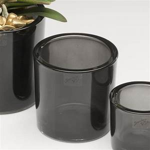 Vase Schwarz Glas : glastopf fum blumentopf bertopf vase glas topf grau schwarz 12 cm ebay ~ Indierocktalk.com Haus und Dekorationen