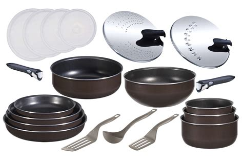 cuisine equipee avec electromenager poele sauteuse tefal set 20 pieces ingenio 3572838 darty