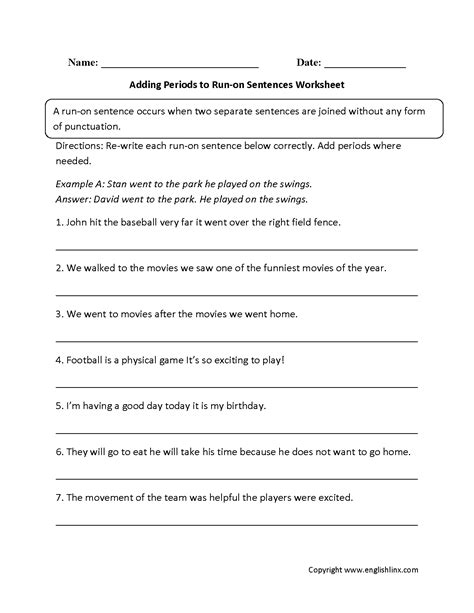 paragraph editing worksheets for 4th grade sentence
