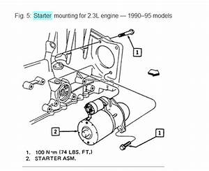 94 Grand Am Starter Motor  Are There Only 2 Bolts On The