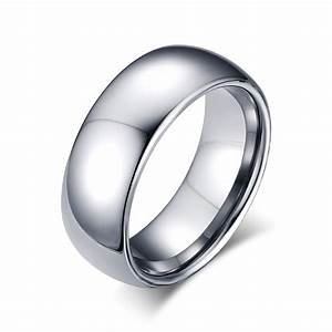 mens ring high polished wedding bands tungsten carbide With tungsten carbide mens wedding ring