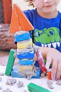 Clay Projects for Kids   Clay & Wood Block Structures