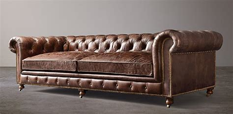 Leather Chesterfield Sofas For Sale by Seating Collections Rh