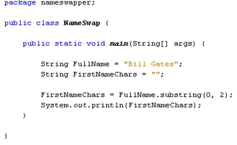 Java For Complete Beginners Substring