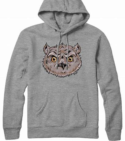 Owl Sweatshirt Hooded Head I20 Hoodie Heather